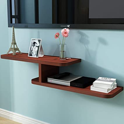 Amazon com: Floating Shelf Wall Mounted Media Console TV