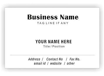 Klassische Weiße Personalisierte Visitenkarten