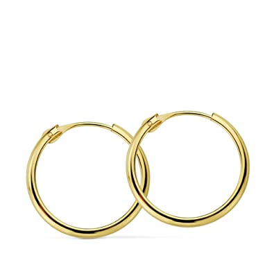 98be73e2a87f Pendientes oro amarillo Lupita 18mm 18 Ktes  Amazon.es  Joyería