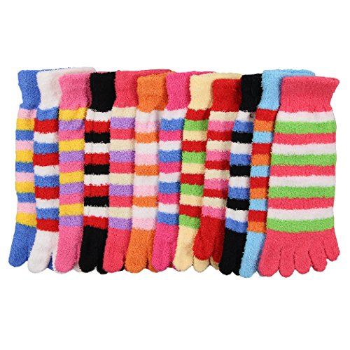 Womens Colorful Fuzzy Sock Pack product image