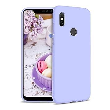 Funda para Xiaomi Redmi Note 6 Pro Carcasa Silicona Xiaomi Redmi Note 6 Pro, Silicona Gel TPU Case Goma Colores del Caramelo Anti-Rasguño Resistente ...