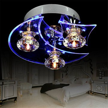 Retro Dining Room Crystal Chandelier Ceiling LED Pendant Moon Star Lights - Decorative Lights Decorative Smart Creative Lights - (110V) - 1 x Ceiling Light ()