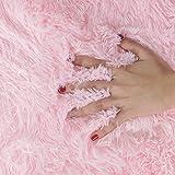 SANMU Soft Round Rug,Fluffy Silky Carpet Fashion