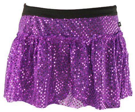 Purple Sparkle Running Skirt M
