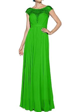 Royaldress Einfach Spitze Kurzarm Chiffon Abendkleider Partykleider  Abiballkleider Lang A-linie Rock Festlichkleider -32