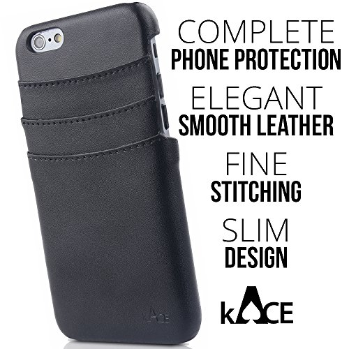 Iphone 6 / 6s Wallet Card Holder Black Case By Kace
