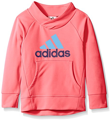 adidas Little Girls' Performance Hoodie, Flash Red, 6X