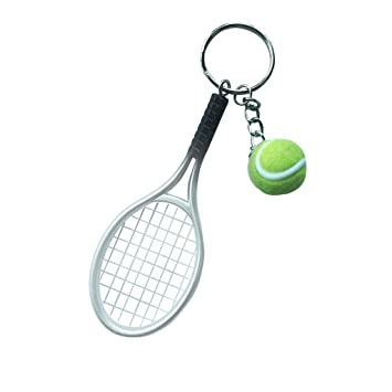 Imported mini tennis ball racket pendant keyring key chain gift imported mini tennis ball racket pendant keyring key chain gift silver mozeypictures Gallery