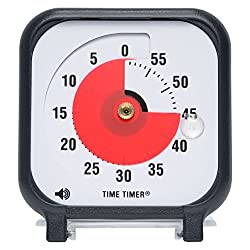 Time Timer Original 3 Inch (Charcoal); 60 Minute Visual Analog Timer