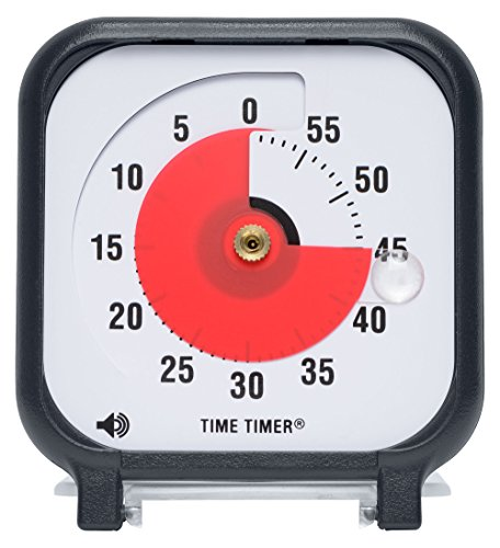 Time Timer Original 3 inch; 60 Minute Visual Timer – Classroom Or Meeting Countdown Clock for Kids and Adults (Black) by Time Timer