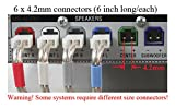 6 Piece 4.2mm (6 inch long/each) Home Theater Speaker Wire Connectors(plugs) for select Sony Samsung YAMAHA Pioneer etc. Receiver ; color coded; Please read warnings!