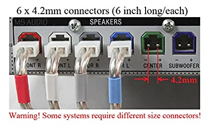 amazon com 4 2mm home theater speaker wire connectors plugs for rh amazon com Wiring a Subwoofer for Home Entertainment Wiring a Subwoofer for Home Entertainment