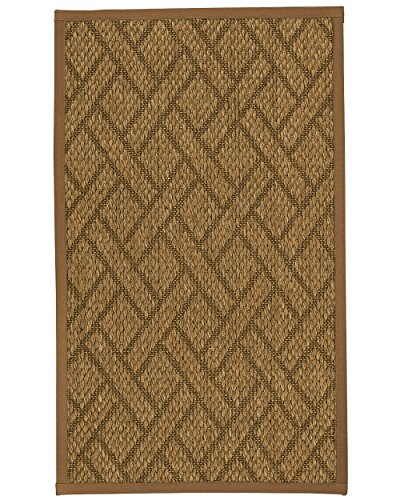 Price comparison product image NaturalAreaRugs Shanghai Sisal Area Rug 5' by 8' Sienna Border
