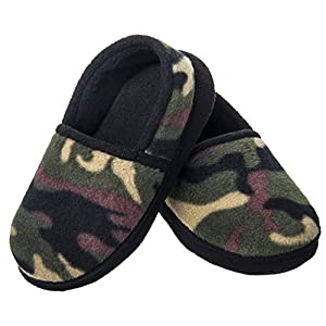 festooning Kids Boys Comfy House Slippers Memory Foam Indoor Shoes