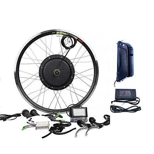 48V1000W Electric Bicycle E Bike Hub Motor Conversion kit W/12AH Li-on Battery(Samsung 29E) & LCD (700C, Rear Wheel + 7 Speed Gear)