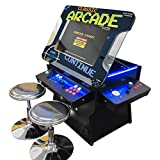 "Creative Arcades Full Size Commercial Grade Cocktail Arcade Machine | Trackball | Three-Sided | 1162 Classic Games | 4 Sanwa Joysticks | 2 Stools | 3 Year Warranty | 26"" Lifting Screen"