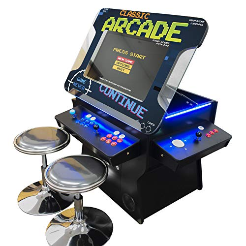 Creative Arcades Full Size Commercial Grade Cocktail Arcade Machine | Trackball | Three-Sided | 1162 Classic Games | 4 Sanwa Joysticks | 2 Stools | 3 Year Warranty | 26