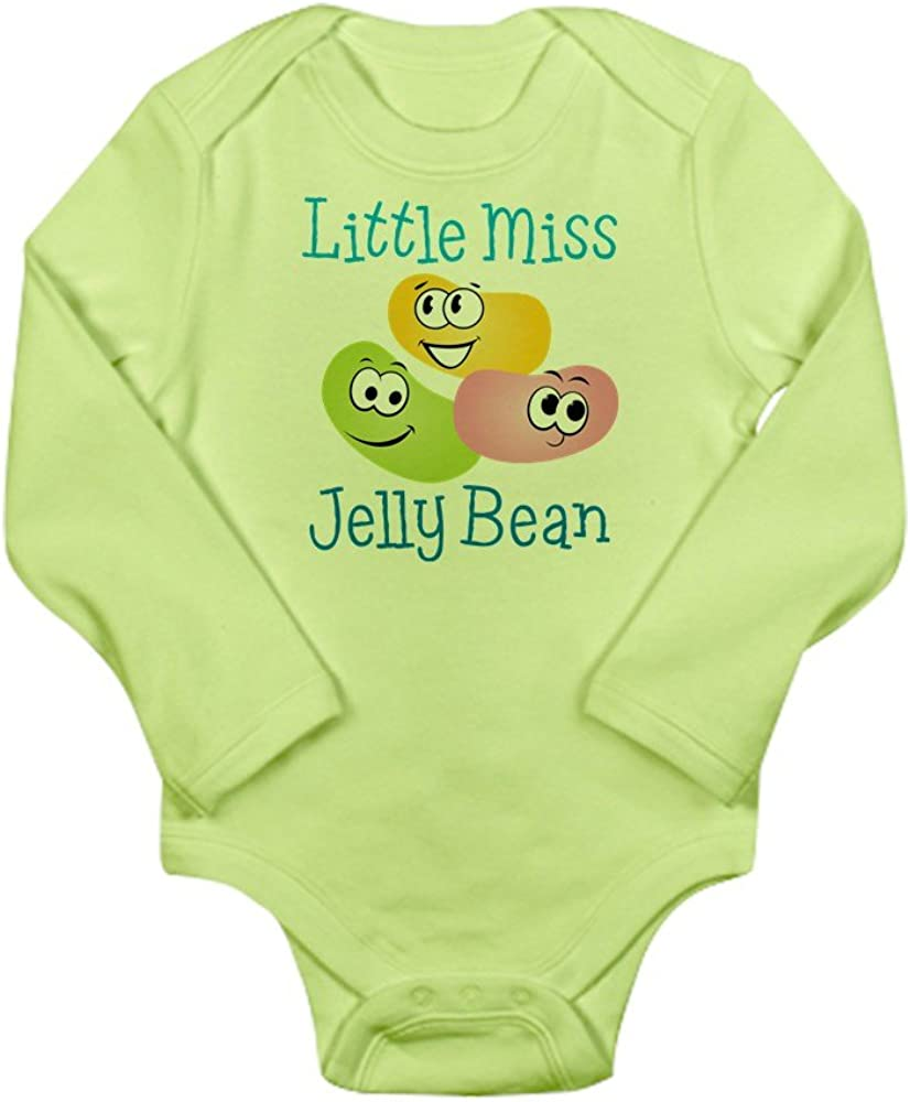 CafePress Little Miss Jelly Bean Long Sleeve Baby Bodysuit
