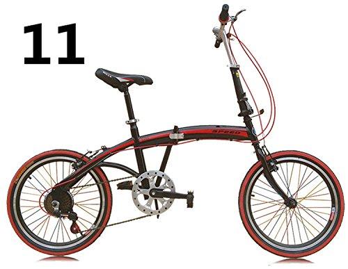 20インチ 折りたたみ自転車 折畳自転車 おりたたみ自転車全11色 おりたたみ自転車W423 B00QA14RG6レッド11