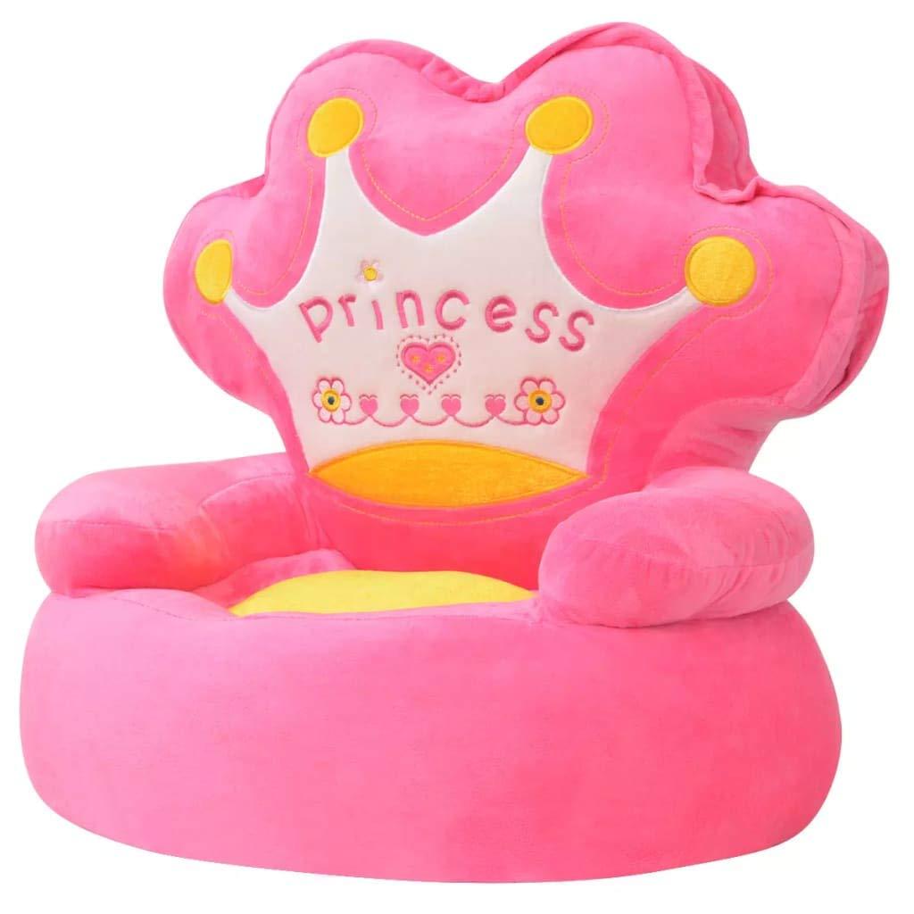 bequemer und einfacher Stuhl f/ür Kinder Tuduo Gepolsterter Kindersessel Prinzessin Rosa Elegant