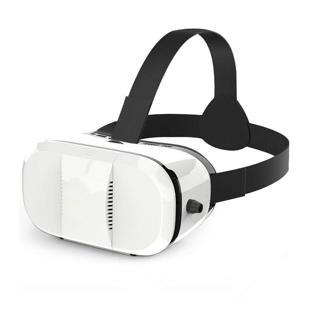 MUTANG VR Glasses Virtual Reality Headset 3D Video Games Goggles Adjustable Focal Distance and Strap White
