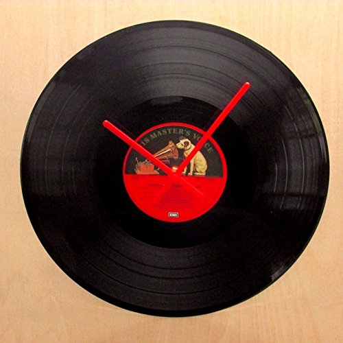 Vinyl Record Clock Making Kit - Convert Your Old Records To Clocks (12'' Record Kit, 120mm Red) (Vinyl Wall Clock Kit)