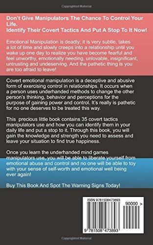 Amazon com: Emotional Manipulation Tactics: 35 Covert