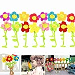 SUSHAFEN-16Pcs-Artificial-Plush-Sunflower-Daisy-Flower-Toy-Bendable-Curtain-Buckle-Tiebacks-Birthday-Wedding-Party-Gift-Decor-Fairy-Wands-Stick-Performance-Props-Novelty-School-Prize-Gifts