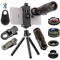 4 in 1 Cell Phone Camera Lenses Kit, 18X Telescopic Zoom...