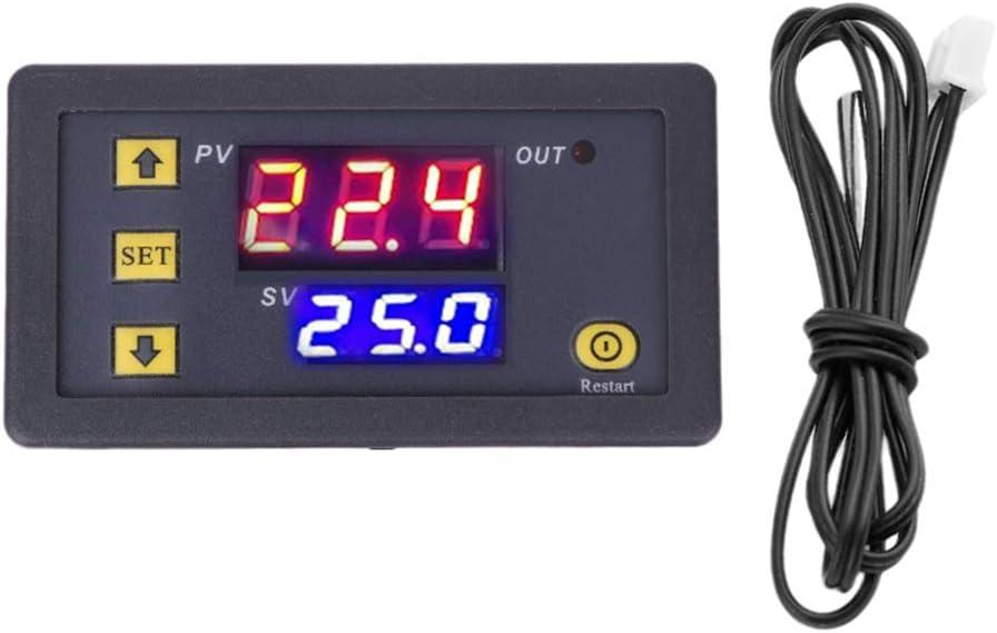 Controlador de temperatura digital,termostato controlador de temperatura Módulo de termostato 12V/24V/110-220V Micro calentamiento Panel de control de temperatura de enfriamiento