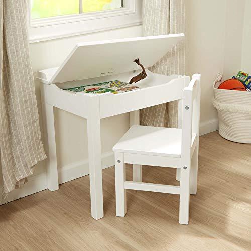 Melissa & Doug Wooden Lift-Top Desk & Chair – White