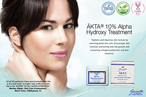 ÄKTA® 10% Alpha Hydroxy Treatment 2 oz: Based on Nutrient Rich Organic Aloe- Best AHA Treatment-Potent Blend of Glycolic, Lactic, Malic, Tartaric, and Citric Acid- Naturally Lighten, Brighten, Tighten Damaged Skin- Hydroquinone Free