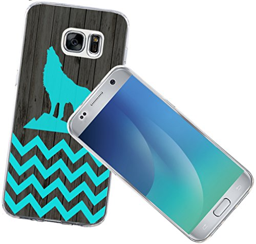 Note 5 Case Animal - Case for Galaxy Note5 - Protector Cover for Samsung Note 5 - Blue Chevron Animal Theme Print Designer Fashionable Style (Slim Flexible TPU Protective Silicone)