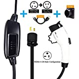 SimplyWork Level 2 EV Charger for All EVs, 25FT Cable, 110V-240V 16A, Canadian Seller & Warranty, FREE charging plug holder, FREE to 110V adapter, FREE portable carrying case.