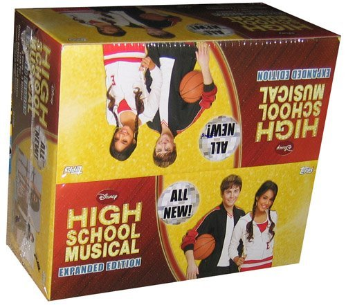 Topps High School Musical Expanded Edition Trading Cards & Stickers Fun Box [24 Packs] by Topps