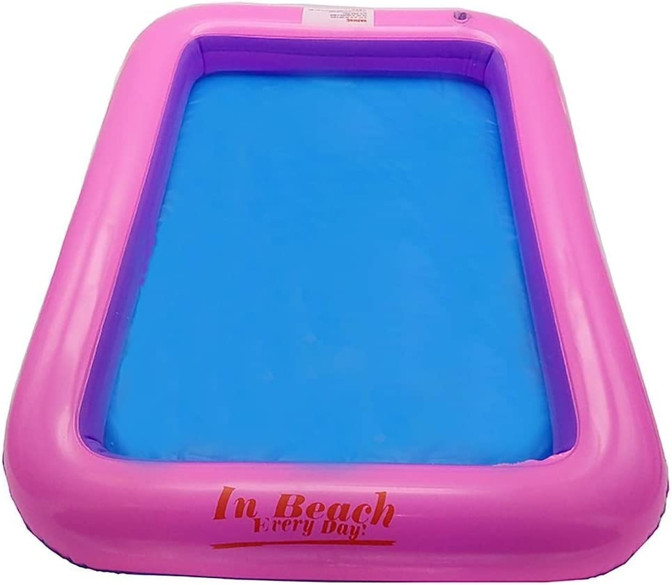 Inflatable Sand Tray Plastic Table Children Kids Indoor Playing Sand Clay Toy`UK