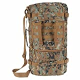 Lixada Multifunction Outdoor Military Tactical Backpack Hiking Camping Trekking Shoulder Bag 45L For Sale