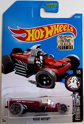 Mattel Hot Wheels Fright Cars - Rigor Motor (Includes Factory Sealed 2017 Sticker on Card!) (Hot Cars Stickers Wheels)