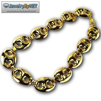 f0b317e9f66 Amazon.com  Puffed Gucci G-link 30 Inch Yellow Gold Chain Puffed Gucci G- link 30 Inch Yellow Gold Chain  JewelryByNet  Jewelry