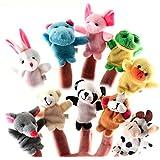 知育玩具 安心 布製 指人形 10体セット 動物 ごっこ遊び 想像力を育てる パペット 【vegonia】