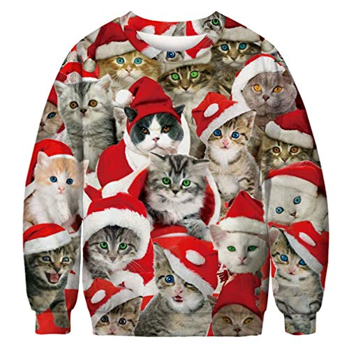 IYOWEL Unisex Crew Neck 3D Digital Printed Ugly Christmas for sale  Delivered anywhere in Canada