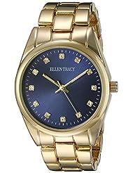 Ellen Tracy Women's ET5198GDNV Blue Dial Classic Ladies Watch