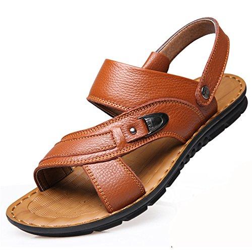 Infradito Open Size Yellow1 Pantofole Plus Estive Uomo Toes Pelle Scarpe Vera 38 Perizoma Spiaggia Nuoto Da 47 Sandali Da 1qA7z