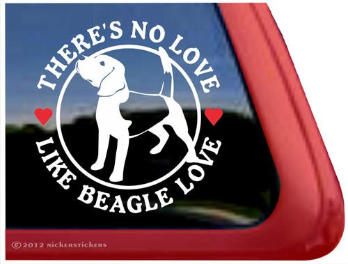 Beagle Dog Sticker - There's No Love Like Beagle Love ~ Dog Vinyl Window Auto Decal Sticker