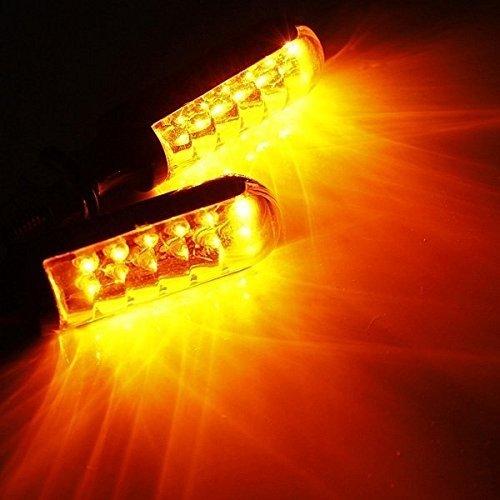 Katur a barra 12/V colore giallo 4 confezioni di luci a 12 LED per/indicatori di direzione della moto