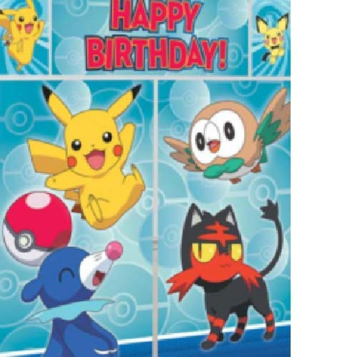 amscan Pokemon Pikachu Scene Setters Wall Decorating Kit]()
