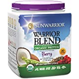 Sunwarrior - Warrior Blend, RAW Plant Based Protein, Berry, 20 Servings (1.1 lbs)