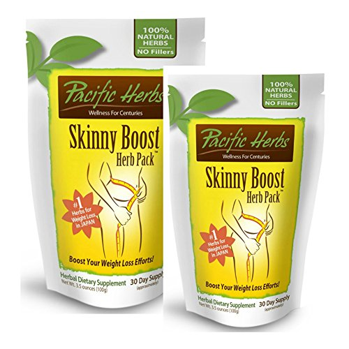 2 Pacific Herbs Skinny Boost Herb Packs - Weight Loss Supplement - 60 Day Supply, Supports Weight Loss, Pure Herbal Extract improves bowels and metabolism by Pacific Herbs