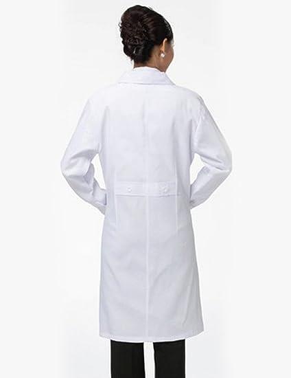 THEE Bata de Laboratorio Blanco Uniforme de Enfermera Sanitaria con Manga Larga Mujer M: Amazon.es: Amazon.es