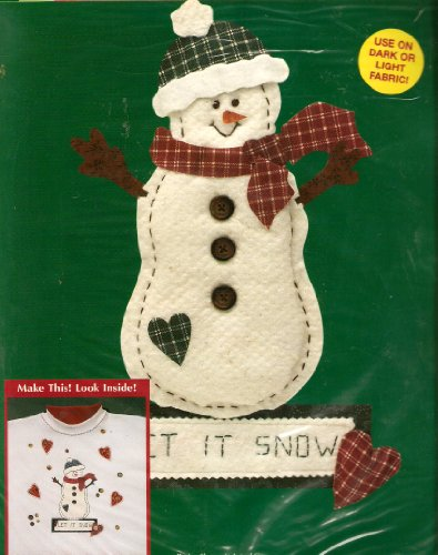 Christmas Iron-On Transfer - Homespun (Homespun Snowman)